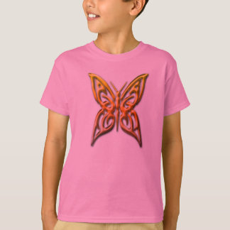 Childs golden tribal butterfly t shirt