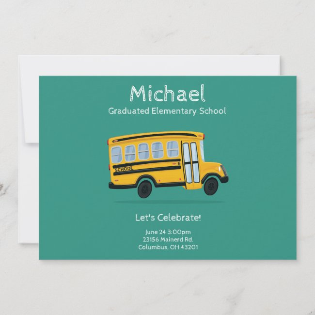 Child's Graduation Party Invitation - Editable