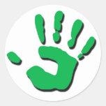 Child's Hand Classic Round Sticker
