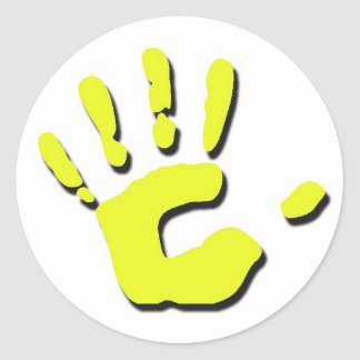 Child's Hand Print Classic Round Sticker