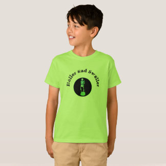Childs Holler and Swaller with Leaf Black Print T-Shirt