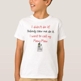 Child's Maw-Maw T-Shirt Template