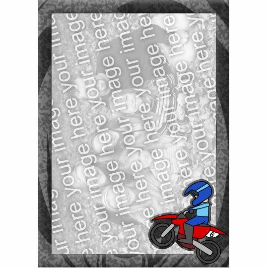 Child's Motocross Photo Frame Cutout