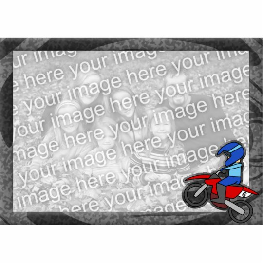 Child's Motocross Picture Frame Cutout