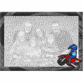 Child's Motocross Picture Frame Photo Sculpture Magnet
