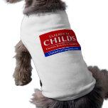 Childs para las camisetas del mascota del congreso playera sin mangas para perro