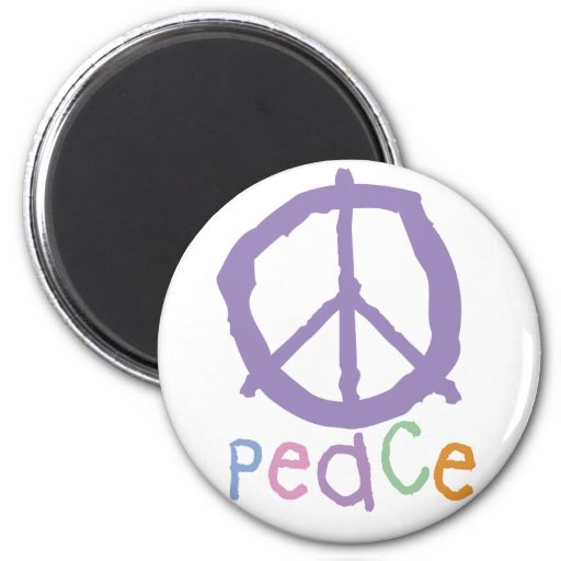Child's Peace Sign 2 Inch Round Magnet
