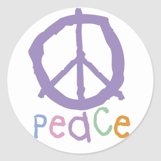 Child's Peace Sign Classic Round Sticker