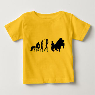 Childs piano playing evolution tee shirts