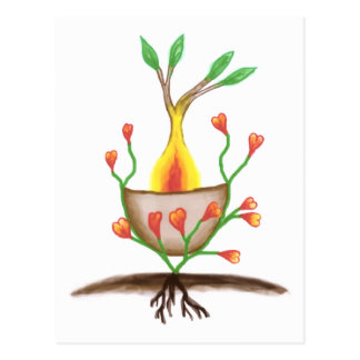 Child's Plant Art Postcard