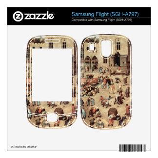 Child's play by Pieter Bruegel Skins For Samsung Flight