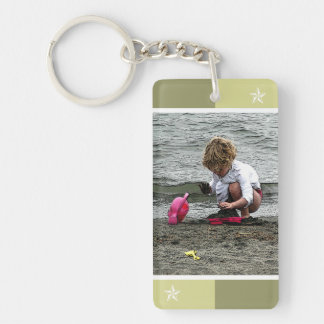 Child's Play on the Beach Keychain
