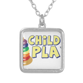 Childs Play Square Pendant Necklace
