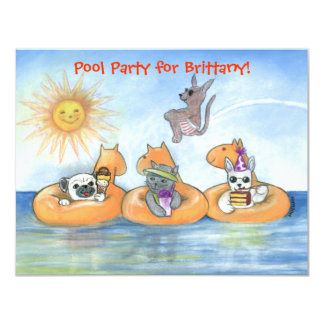 Child's Pool Party Invitation