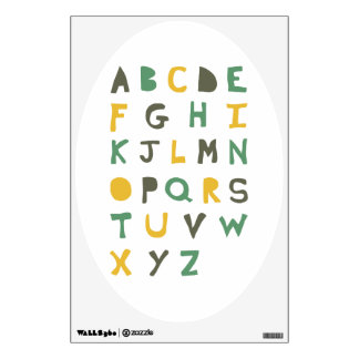 Child's Quirky Hand-drawn Alphabet Room Decal