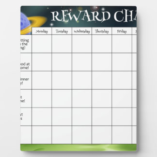 Childs Reward or Chore Chart Display Plaques