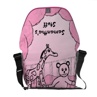 Child's Room Pink Personalized Messenger Bag