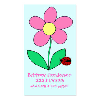 Child's safety Card Double-Sided Standard Business Cards (Pack Of 100)