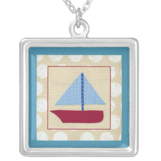 Child's Sailboat by Chariklia Zarris Silver Plated Necklace