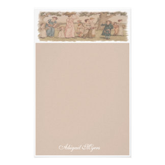 Child's Stationery with Kate Greenaway art