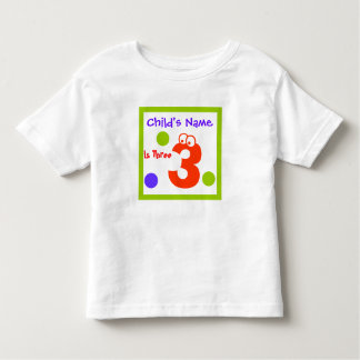 child's third 3rd Birthday, Toddler T-shirt