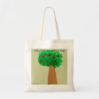 Child's Tree Drawing Budget Tote Bag