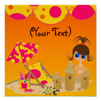 Childs Wall Hanging Sliver Gloss Canvas UV Poster