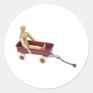 ChildToyWagon112409 Classic Round Sticker