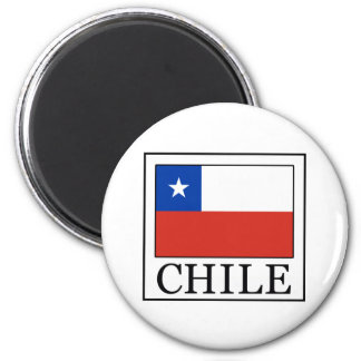 Chile 2 Inch Round Magnet
