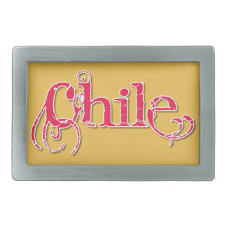 Chile Artsy Belt Buckle