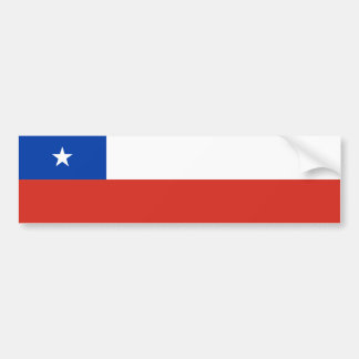 Chile/bandera chilena pegatina de parachoque