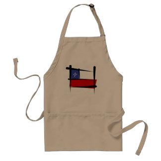 Chile Brush Flag Adult Apron