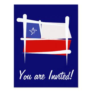 Chile Brush Flag Card