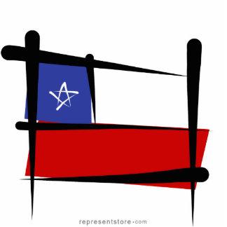 Chile Brush Flag Cutout