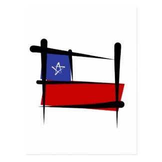 Chile Brush Flag Postcard