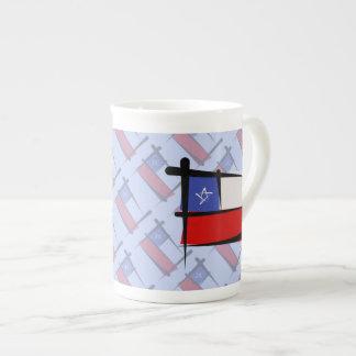 Chile Brush Flag Tea Cup