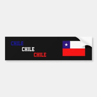 Chile, Chile, Chile flag bumper sticker