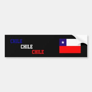 Chile, Chile, Chile flag bumper sticker