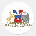 Chile, Chile Pegatina Redonda