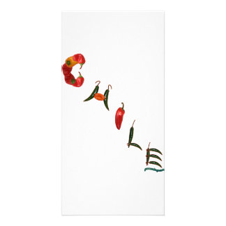 Chile Chili Peppers Card