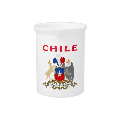Chile Coat Of Arms Beverage Pitcher