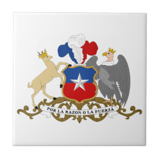 Chile Coat Of Arms Ceramic Tile