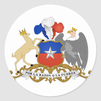 Chile Coat of arms CL Round Sticker