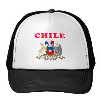 Chile Coat Of Arms Designs Mesh Hats