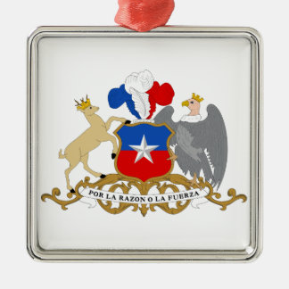 Chile Coat of Arms Metal Ornament