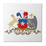 Chile Coat Of Arms Small Square Tile