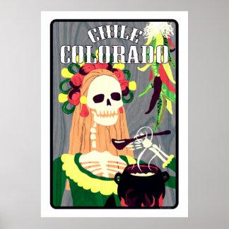 chile colorado (cool scheme) poster