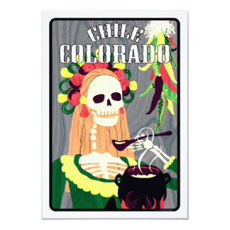 chile Colorado (esquema fresco) Invitación 8,9 X 12,7 Cm
