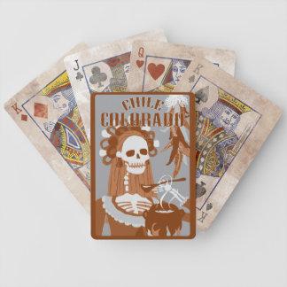chile colorado : orange burn bicycle playing cards