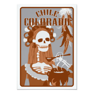 """chile Colorado: quemadura anaranjada Invitación 3.5"""" X 5"""""""